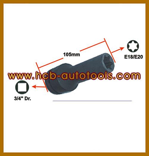 "MAN STAR-E IMPACT SOCKET(博士3 / 4 \ ""、E18 / E20)(HGVシリンダーヘッドボルト用)"