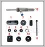 HCB-A7002 HONDA LOWER CONTROL ARM茂みリムーバー/インストーラー(油圧DR